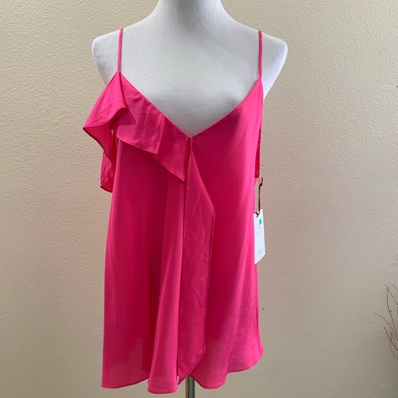 f7761e50df37b9 Lewit Nordstrom XL Tank Top Cami Pink Rouge Ruffle